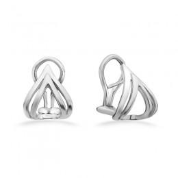 Sterling Double V Earrings