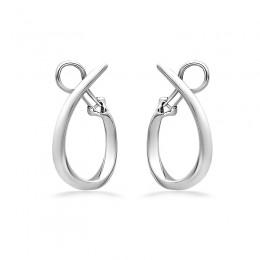 Sterling Silver U Hoop Earring
