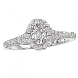 Diamond Engagement Ring w/ Center
