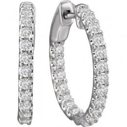 Ladies Fashion Diamond Hoop Earrings