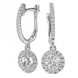 Ladies Diamond Halo Earrings