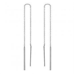 Ladies Diamond Threaded Earrings