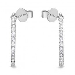 Pave Round Hoops with Angled Pin