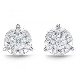 Diamond Bouquets 3-Prong Studs .50ct look (each ear)
