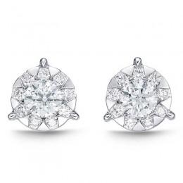 Diamond Bouquets 3-Prong Studs .75ct look (each ear)