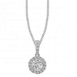 Ladies Diamond Halo Necklace