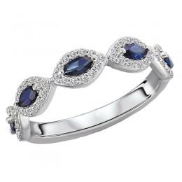 Diamond and Gemstone Fashion Ring