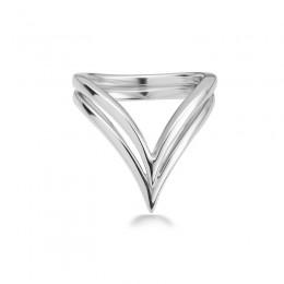 Sterling Double V Ring