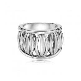 Sterling Silver Birdcage Ring