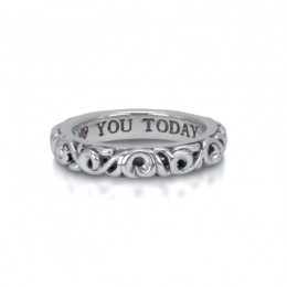 """Sterling Silver Ivy """"I Love You Today"""" Ring"""