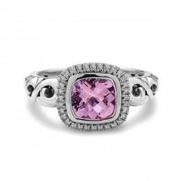 Ellah Collection Sterling Silver Morganite Ring
