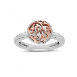 Sterling Silver & 18KR Ivy Lace Ring