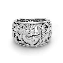 Sterling Silver Ivy Lace Band