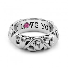 """Sterling Silver """"I Love You"""" Ring"""