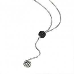 Sterling Silver Necklace 140 Black Sapphires