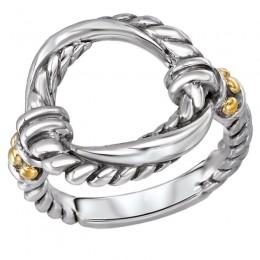 Ladies Fashion Two-Tone Ring