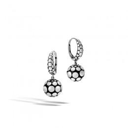 Dot Drop Earrings in Silver