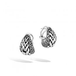 Asli Classic Chain Link Silver Buddha Belly Earrings