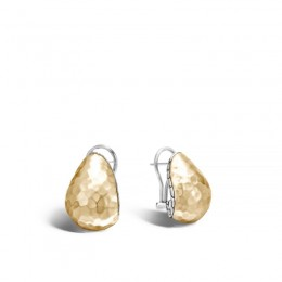 Classic Chain Hammered Gold & Silver Buddha Belly Earrings BG