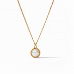Julie Vos Fleur-de-Lis Necklace Shell Pearl