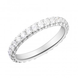 1 Carat  french Set Diamond Eternity Band