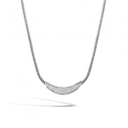 Classic Chain Necklace with Diamonds