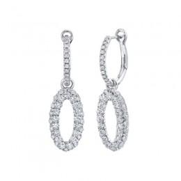 1.60CT Diamond Hoop/Dangle Earringsg