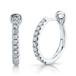 .26CT Diamond Hoops Earrings