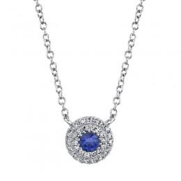 .12 Saph/.10CT Diamond Pendant