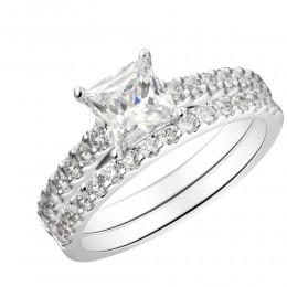 Shared Prong Diamond Semi Mount Bridal Set